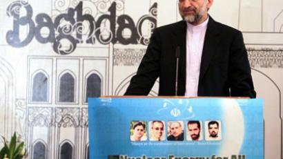 Iran's chief nuclear negotiator, Saeed Jalili, speaks during a press conference in Baghdad on May 24, 2012 (AFP Photo/Ali Al-Saadi)