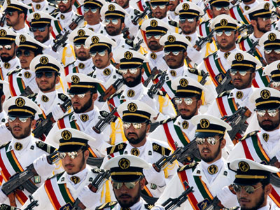 Members of the Iranian Revolutionary Guard Navy (REUTERS/Stringer Iran)