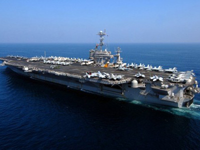 The Nimitz-class aircraft carrier USS John C. Stennis as it conducts operations in the Gulf (AFP Photo / US Navy)