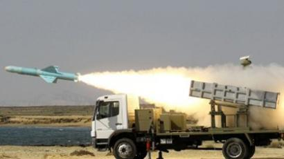 Iranian short-range Nasr missile is launched near the Strait of Hormuz (AFP Photo / Jamejamonline / Ebrahim Noroozi)