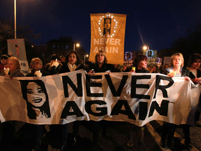 More than 10,000 protest in Ireland over woman's death from denied abortion