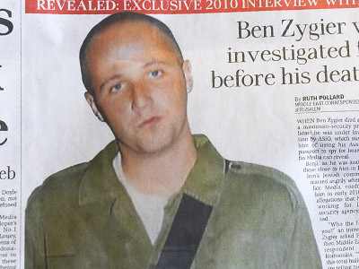 Australian newspapers lead their front pages in Australia on February 14, 2013, with the story of Ben Zygier as Israel confirms it jailed a foreigner in solitary confinement on security grounds who later committed suicide, with Australia admitting it knew one of its citizens had been detained (AFP Photo/William West)