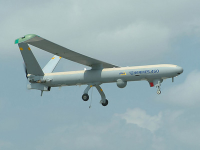 A Hermes 450 drone, used in Georgia in their 2008 war campaign (Image from elbitsystems.com)