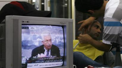 We want the airwaves:  Israel targets Palestinian TV. (Reuters / Baz Ratner)