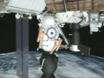 ISS cosmonauts fix antenna on Progress cargo ship