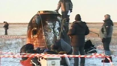 Landing module of Soyuz spacecraft