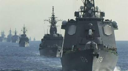 Japan displays naval muscle amid islands strife