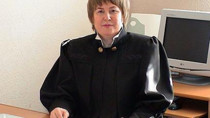 Novosibirsk Judge Irina Glebova (Photo from odnoklassniki.ru)