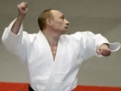 Judo fan Putin becomes president again!
