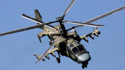 Kamov Ka-52 demo flight at the MAKS-2011 aviation expo. (RIA Novosti / Vitaliy Ankov)