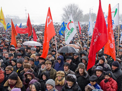 Kaliningrad rallies against tax rise