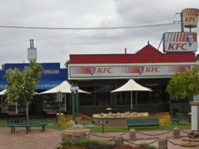 Wrights Jewellers (L) and the local KFC (Image from Google Maps)