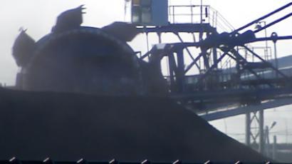 A coal stacker in Khabarovsk Region, Far East