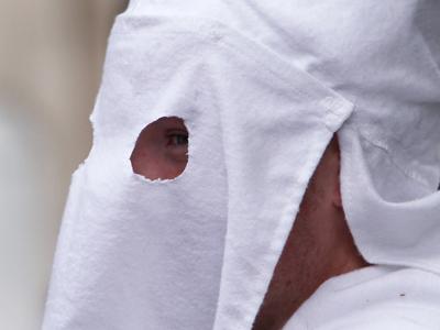 A member of the Ku Klux Clan (Spencer Platt / Getty Images / AFP)