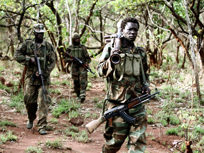The hunt for Kony: US troops chill out in the bush