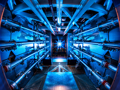 The preamplifiers of the National Ignition Facility are the first step in increasing the energy of laser beams as they make their way toward the target chamber. NIF recently achieved a 500 terawatt shot - 1,000 times more power than the United States uses at any instant in time (Damien Jemison/LLNL)