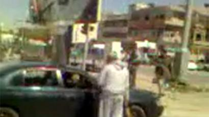 Still frame from a video uploaded to Twitter by user Libynprincess featuring clashes in Abu Salim on March 18, 2012