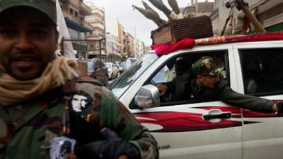 A local militia is pictured at a checkpoint in Benghazi (AFP Photo / TREVOR SNAPP)