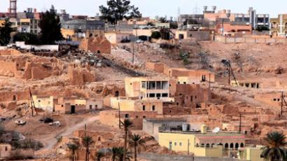 This picture shows a view of the town of Bani Walid.(AFP Photo / Mahmud Turkia)