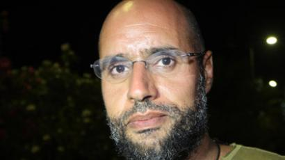 Saif al-Islam Gaddafi, son of Libyan leader Moamer Gaddafi. (AFP Photo/Imed Lamloum)