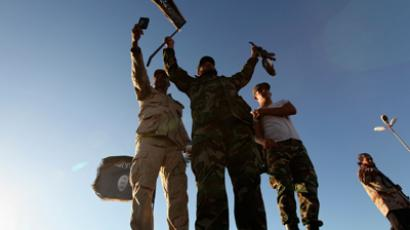 Anti-Gaddafi fighters take part in a demonstration in Benghazi June 7, 2012 to demand the application of Islamic law, or Sharia law, in Libya (Reuters / Esam Al-Fetori)