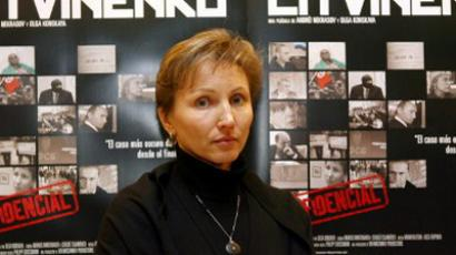 Marina Litvinenko, widow of Aleksandr Litvinenko (AFP Photo / Javier Soriano)