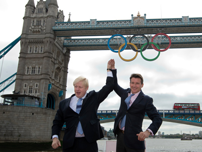 Boris Johnson and Sebastian Coe: the real Olympic heroes? (AFP Photo / Ben Stansall)