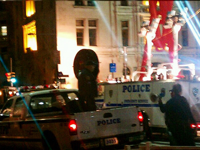 Police have used a long-range acoustic device (LRAD) against peaceful protesters (courtesy: http://twitpic.com/7eebr3)