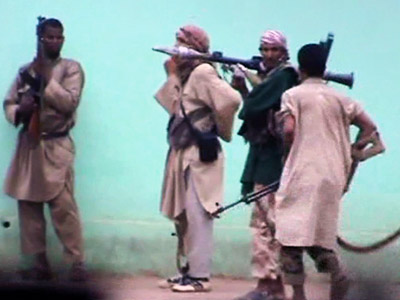A still from a video shows armed Islamists patrolling in the streets of Gao, the biggest city in northern Mali (AFP Photo)