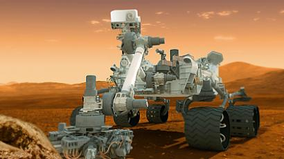 An artist's conception of NASA's Mars Science Laboratory Curiosity rover. (AFP Photo / NASA)