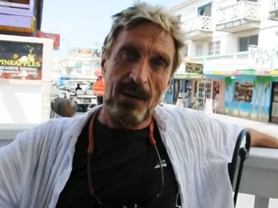 John Mcafee (Screenshot from youtube.com @reporternewspaper)