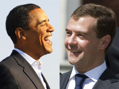 Medvedev and Obama top media darlings list