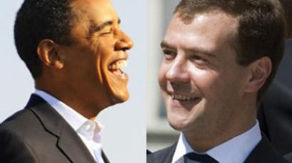 Barack Obama and Dmitry Medvedev (AFP Photo / Emmanuel Dunand, AFP Photo / Sergei Karpukhin)