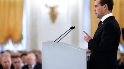 President Medvedev's annual address to Federal Assembly: full transcript