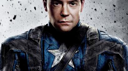 President Medvedev as Captain America