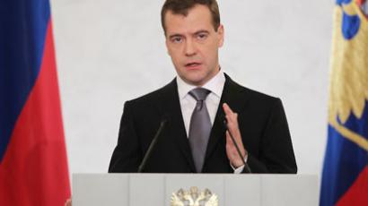 Medvedev: Russia on the right track