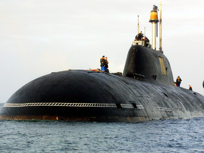 Vepr Russian nuclear submarine of the Project 971 Shchuka-B type (AFP Photo / Fred T)