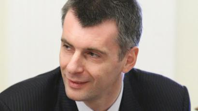 Billionaire Prokhorov's party will not deal with nationalists