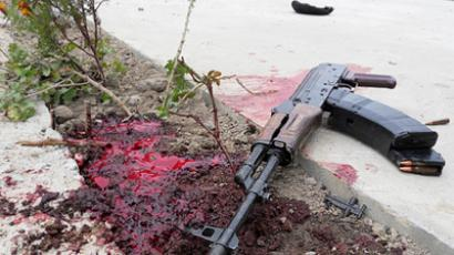 Assault rifle belonging to one of the dead militants (RIA Novosti / NewsTeam)