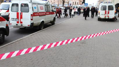 Emergency vehicles close to the Minsk metro blast site (RIA Novosti / Sergey Samokhin)