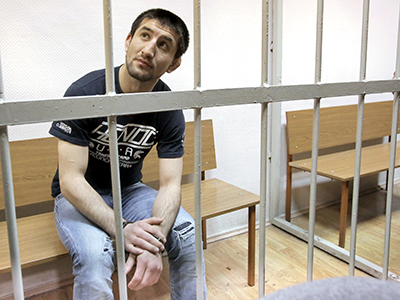 Athlete Rasul Mirzayev is at Moscow's Zamoskvoretsky Court on November, 27, 2012. (RIA Novosti / Andrey Stenin)