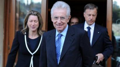 Rome: Former EU commissioner Mario Monti leaves his hotel on November 13, 2011 in Rome. (AFP Photo / Gabriel Bouys)