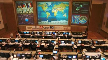 At the Mission Control Center in Korolev near Moscow (RIA Novosti / Ruslan Krivobok)