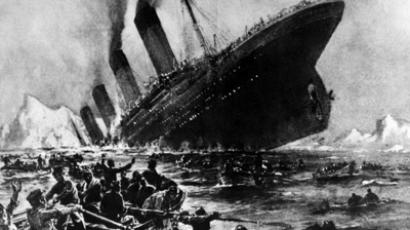 Undated artist impression showing the 14 April 1912 shipwreck of the British luxury passenger liner Titanic off the Nova-Scotia coasts, during its maiden voyage (AFP Photo)
