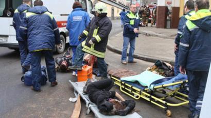 Explosion at the Park Kultury radial metro station. (RIA Novosti / Vladimir Fedorenko)