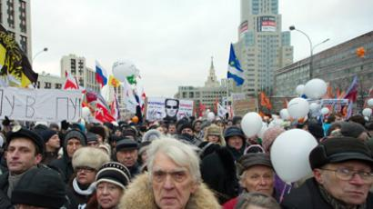 Moscow surrounded: Holding hands 'for fair elections' (VIDEO, PHOTOS)