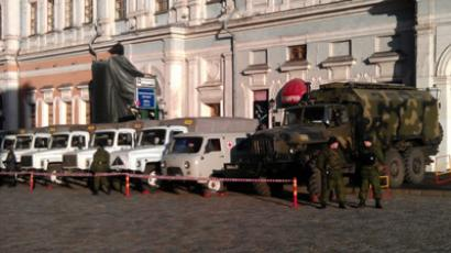 Troops deployed on streets of Moscow in wake of unrest