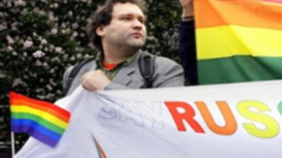 American homosexuals support Russian activists