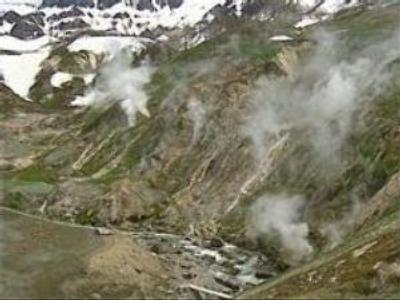 Mudflows cover part of Kamchatka's Geyser Valley