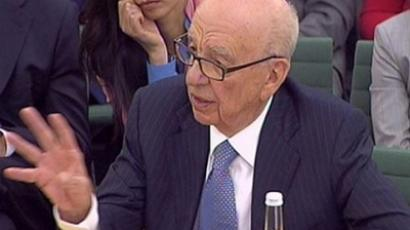 Rupert Murdoch, gives evidence to the Culture, Media and Sport Select Committee on the News of the World phone-hacking scandal in this image taken from TV in Portcullis House in central London Tuesday July 19 2011 (AFP Photo / Getty Images)